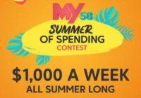 My58 Summer Of Spending Contest